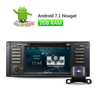 """Android 7.1 Car DVD Player for BMW E39 M5 7"""" Touch Screen HDMI USB SD + Camera"""