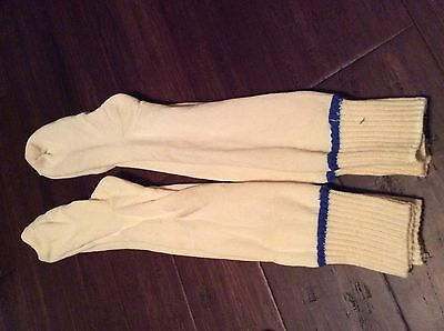 Vintage Wigwam Snow ski sirocco sock lot of 2 blue stripe  irregular socks E6