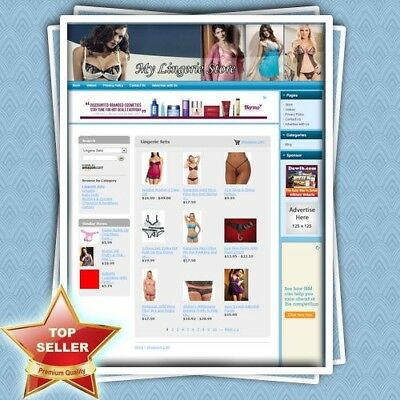 LINGERIE STORE - Professionally Designed Dropship Website With Amazon + Adsense!
