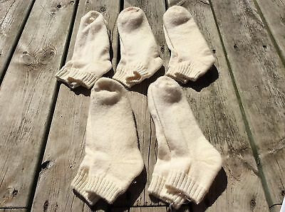 Vintage Wigwam wool ankle Socks Size large lot of 5 new made in USA H-5