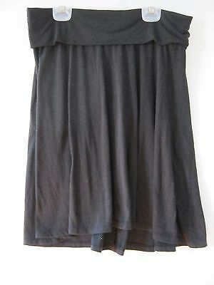 Black Oh Baby by Motherhood Yoga Top A-Line Skirt Woman's size Small