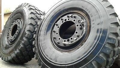 Used 16.00R20 XZL Michelin Military Mud Tires on Steel rims
