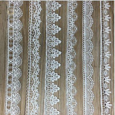 1-10Yrd Embroidered Lace Edge Trim Ribbon Wedding Applique DIY Sewing Craft Gift