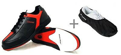 (- black/red, 39,5 (US 7)) - Dexter Ricky III Bowling Shoes and (Covers)
