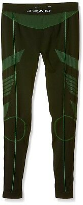 (Small, Black/Green) - Spaio Thermo Women Leggings. Shipping Included