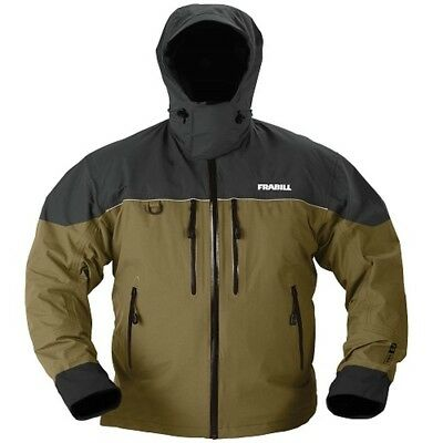 (Large, Charcoal Grey/Brown) - Frabill F 11.4l Rainsuit Jacket. Shipping is Free