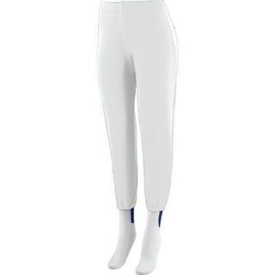 (Youth Medium (24-26), White) - Girls/Women's Softball Low Rise Pants Ladies Fit