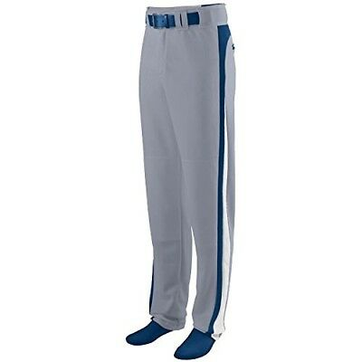 (Youth Large, Grey Pants with Navy/White Piping) - Travel Ball/All-Star/High