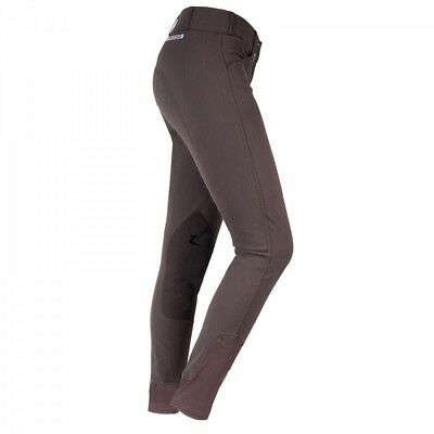 (22/R, Black) - Horze Ladies Grand Prix Extend Breeches w/ Self Patch