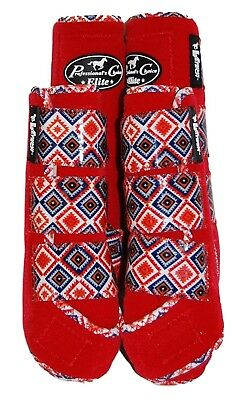 Professional`S Choice Elite Sports Medicine Boots 4 Pack w/ Navajo Design L Red