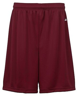 (Small, Maroon) - Badger Big Boys' Athletic Performance Superior-Fit Pocketed