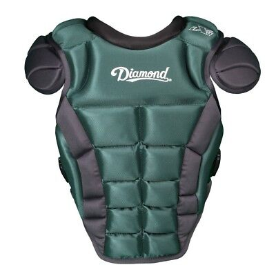 (41cm , Dark Green) - Diamond Sports iX5 Deluxe Fastpitch Chest Protector