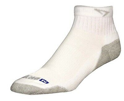 (X-Large, White/Grey) - Drymax Run 1/4 Crew Low Socks. Brand New