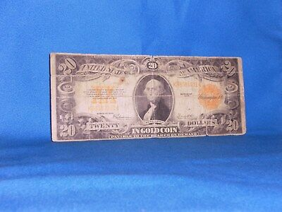 1922 US $20 Gold Certificate Note. Horse Blanket, Currency Note!