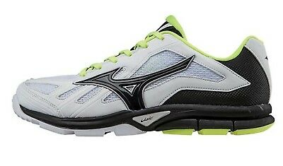(6 B(M) US, White / Black) - Mizuno Women's Players Training Shoe. Brand New