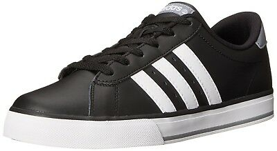 (11 C/D US, Core Black/Running White/Grey) - adidas NEO SE Daily Vulcanised