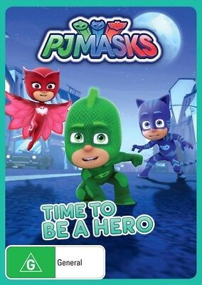 BRAND NEW PJ Masks : Time To Be A Hero (DVD, 2017) *PREORDER R4