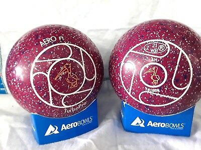 "Turbo Pro Lawn Bowls Size 4 Heavy Weight Dimple Grip ""pelican"""