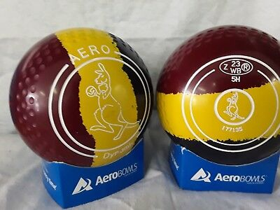 "Aero Dynamic Lawn Bowls Size 5 Heavy Weight Dimple Grip ""roo"""