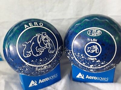 "Turbo Pro Lawn Bowls Size 3.5 Heavy Weight Z Scoop ""bulldog"""
