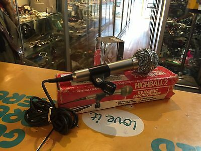 Realistic (Highball-2) Dynamic Microphone In Box - Vgc !