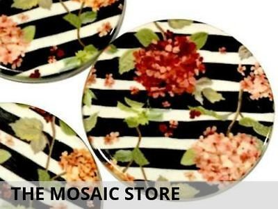 Set of 2 Decorative 5cm Ceramic Circles - Mosaic Tiles Art Craft Supplies