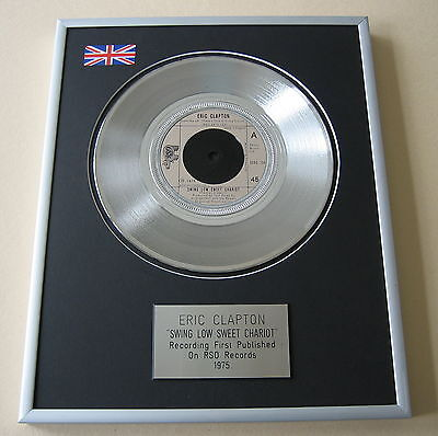 ERIC CLAPTON Swing Low Sweet Chariot PLATINUM SINGLE DISC PRESENTATION