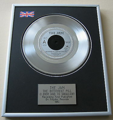 THE JAM The Bitterest Pill (I Ever Had To Swallow) PLATINUM DISC PRESENTATION