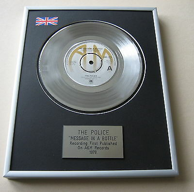 THE POLICE Message In A Bottle PLATINUM SINGLE DISC PRESENTATION