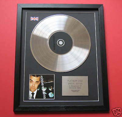 ROBBIE WILLIAMS I've Been Expecting You CD / PLATINUM LP DISC Presentation