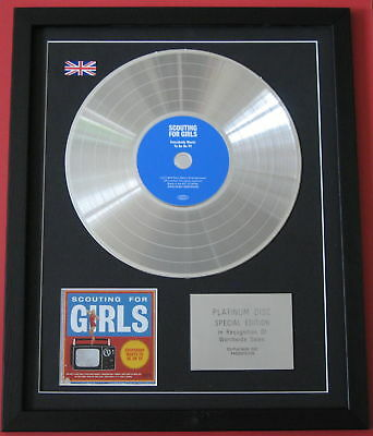SCOUTING FOR GIRLS Everybody Wants CD / PLATINUM LP DISC presentation
