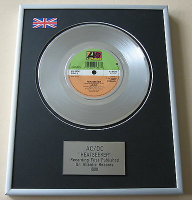 AC/DC Heatseeker PLATINUM SINGLE DISC PRESENTATION