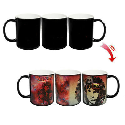 █ The Doors Rock Band Heat Sensitive Color Change Magic Coffee Mug Cup BS010
