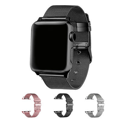 Milanese Loop Stainless Steel Strap Band buckle for Apple Watch Series 5 4 3 2 1