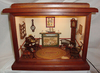 18th C. Ship's Captain's Roombox Almost All Vintage Artisan Pieces 1:12