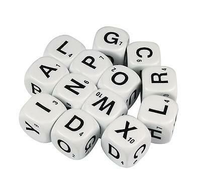 Dice Alphabet 6 Face Uppercase 16mm (13 pieces) Literacy Teacher Resource Kids