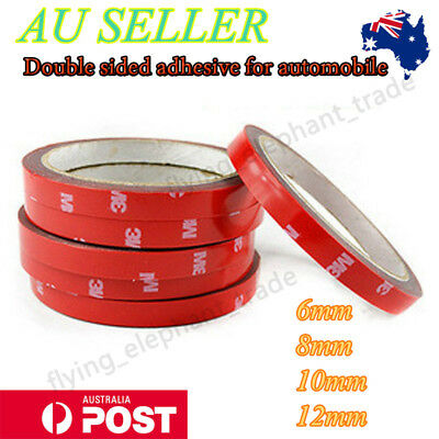 3M Automotive Acrylic High Strength Double Sided Foam Adhesive Tape 6/8/10/12mm