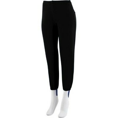 (Adult 2XL (37-39), Black) - Girls/Women's Softball Low Rise Pants Ladies Fit
