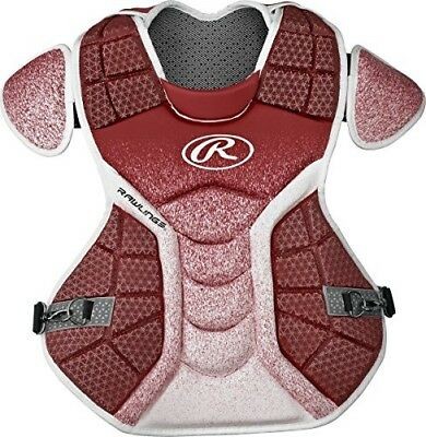 (Cardinal/White) - Rawlings Sporting Goods Catchers Chest Protector Velo