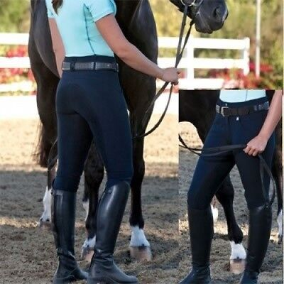 (28 Long, Dark Navy) - Romfh Ladies Champion 3-Button Full Seat Breech