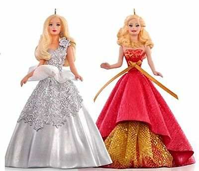 Hallmark QXI2787 Celebration Holiday Barbie Ornament Set NEW, Free Shipping