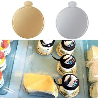 100 pcs Round Mousse Cake Boards Disposable Cake Cardboard For Wedding Party