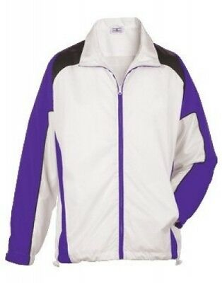 (Large, White/Purple/Black) - Youth Achiever Jacket. Teamwork. Free Delivery
