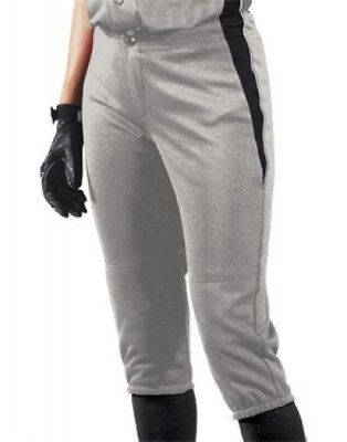 (Small, Silver/Black/White) - Women's Changeup Softball Pant. Teamwork