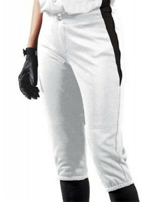 (Large, White/Black/Black) - Women's Changeup Softball Pant. Teamwork
