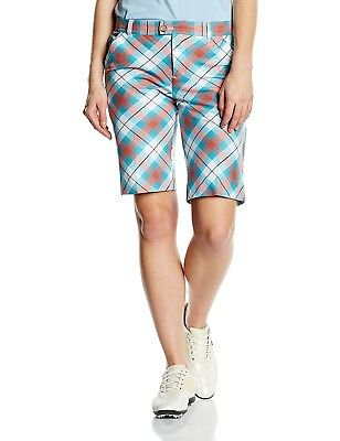 (Size 4 ( 80cm  Waist ), McWhite Tartan) - Royal and Awesome Womens Golf Shorts