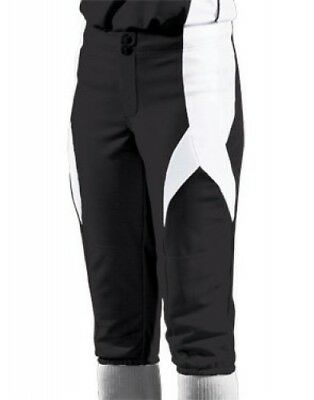 (Large, Black/White/White) - Women's Stinger Softball Pant. Teamwork