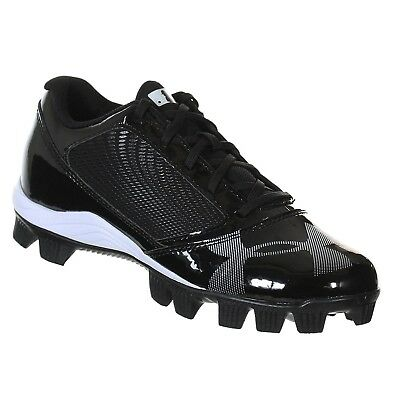 UNDER ARMOUR YARD RM LOW JR BLACK / BLACK YOUTH moulded BASEBALL CLEATS 11K