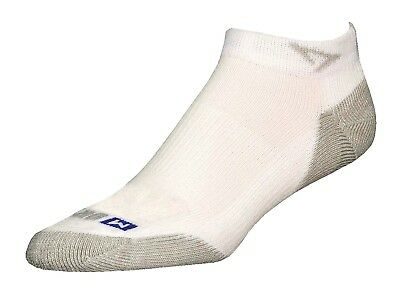 (XX-Large (M11-13), White/Grey) - Drymax Run Mini Crew Socks. Delivery is Free