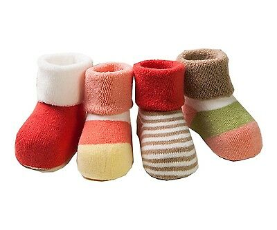 (0-12 month, Girls) - Ensnovo 4 Pairs Thick Combed Cotton Baby Socks